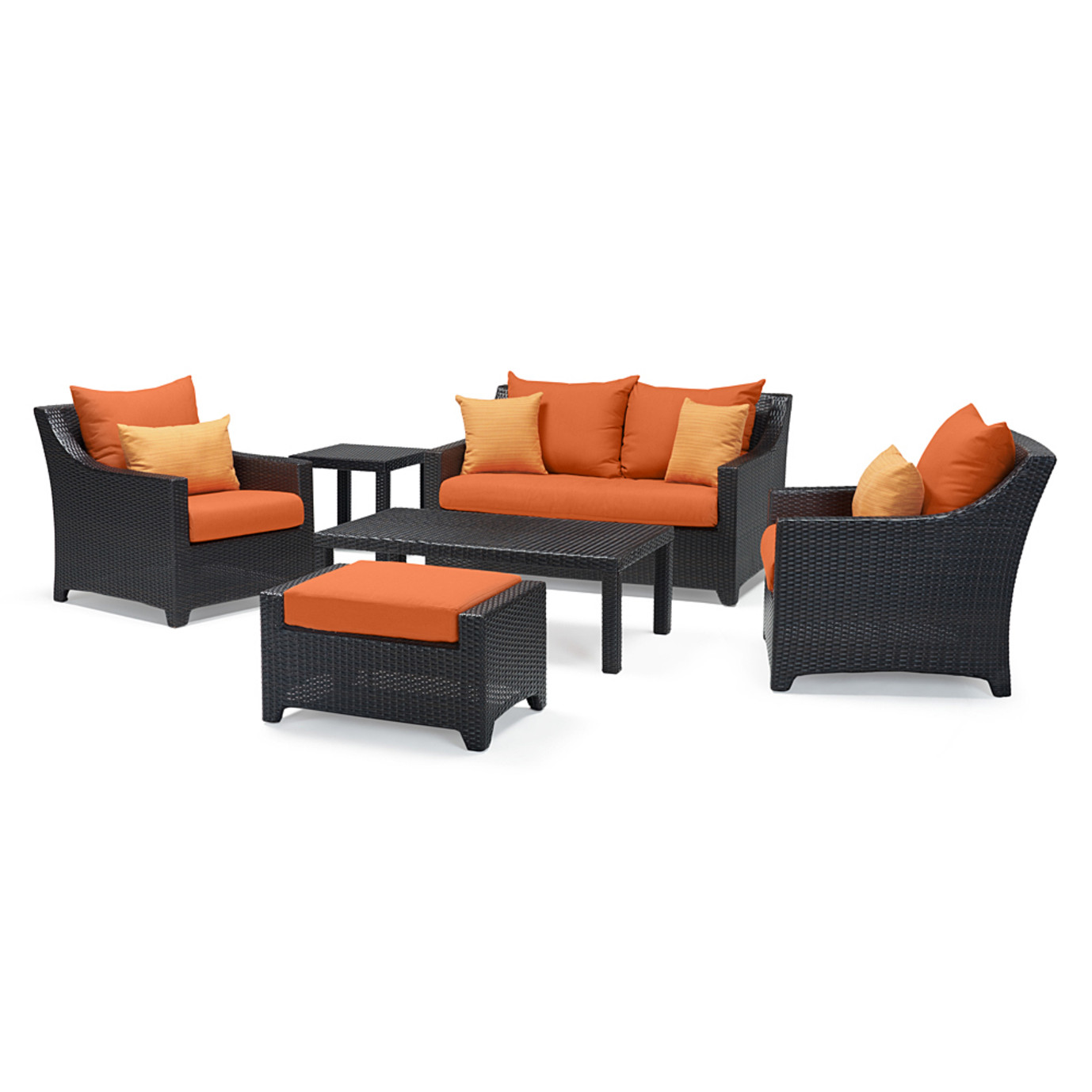 Deco™ 6pc Love and Club Seating Set - Tikka Orange