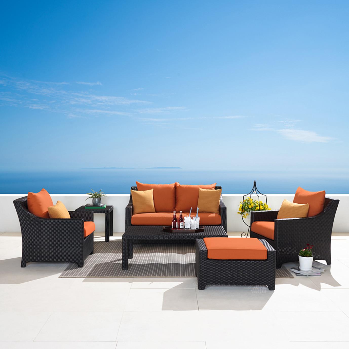 Deco™ 6 Piece Love and Club Seating Set - Tikka Orange