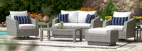 Cannes™ 6 Piece Love & Motion Club Seating Set - Cast Coral