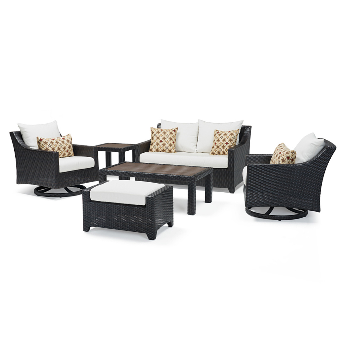 Deco Deluxe 6 Piece Love & Motion Club Seating Set - Moroccan Cream