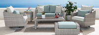 Cannes™ 6 Piece Love & Motion Club Seating Set - Sunset Red