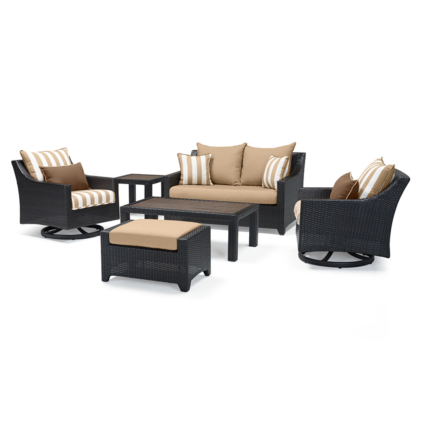 Deco™ Deluxe 6pc Love & Motion Club Seating Set - Maxim Beige