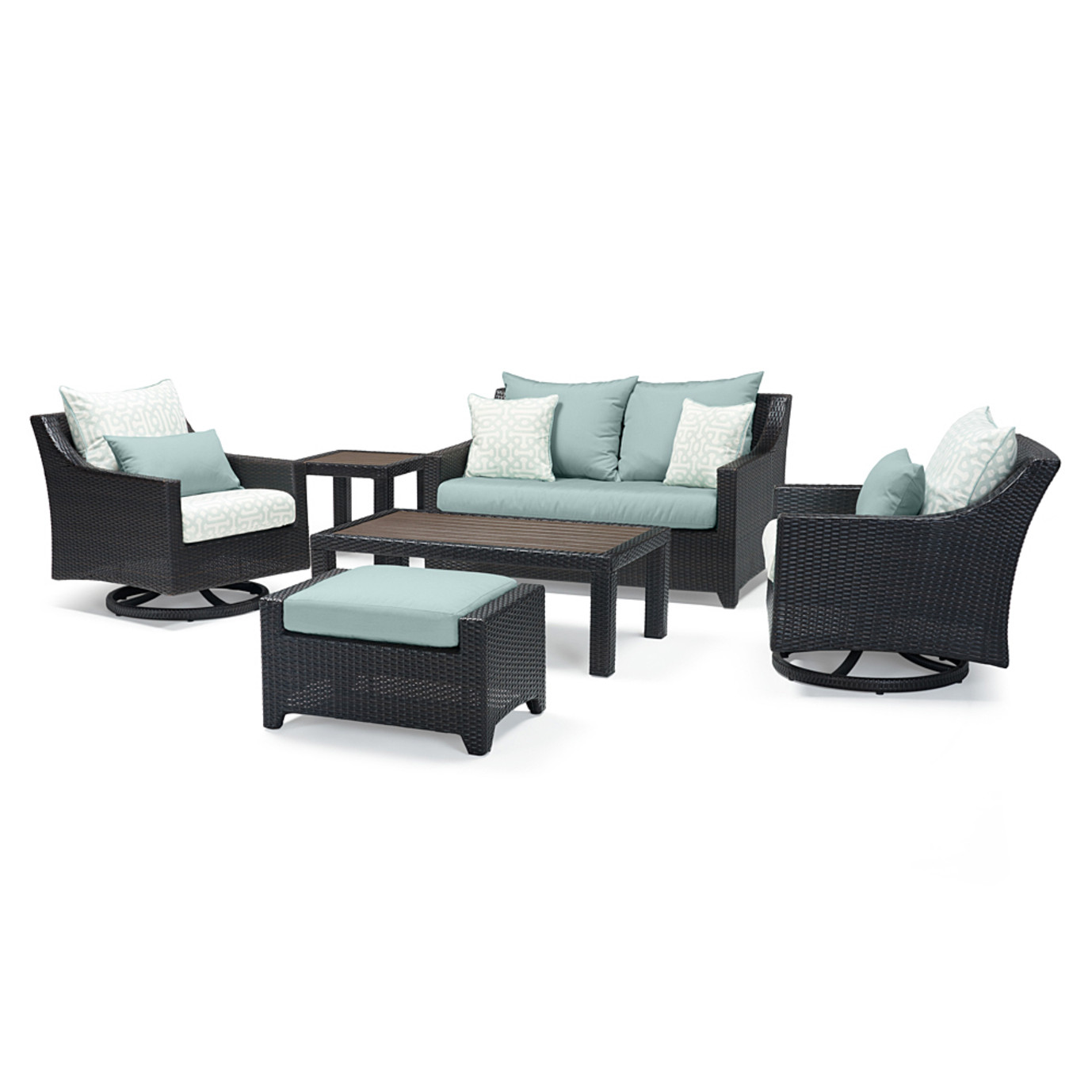 Deco™ Deluxe 6pc Love & Motion Club Seating Set - Spa Blue