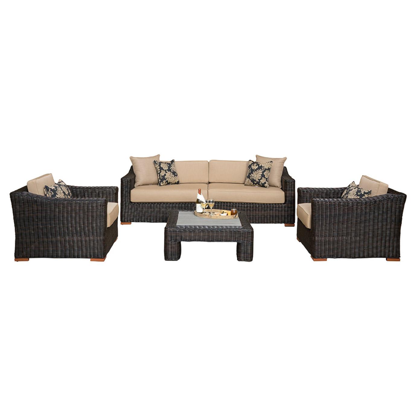 Resort™ 5pc Deep Seating Set - Espresso/Heather Beige