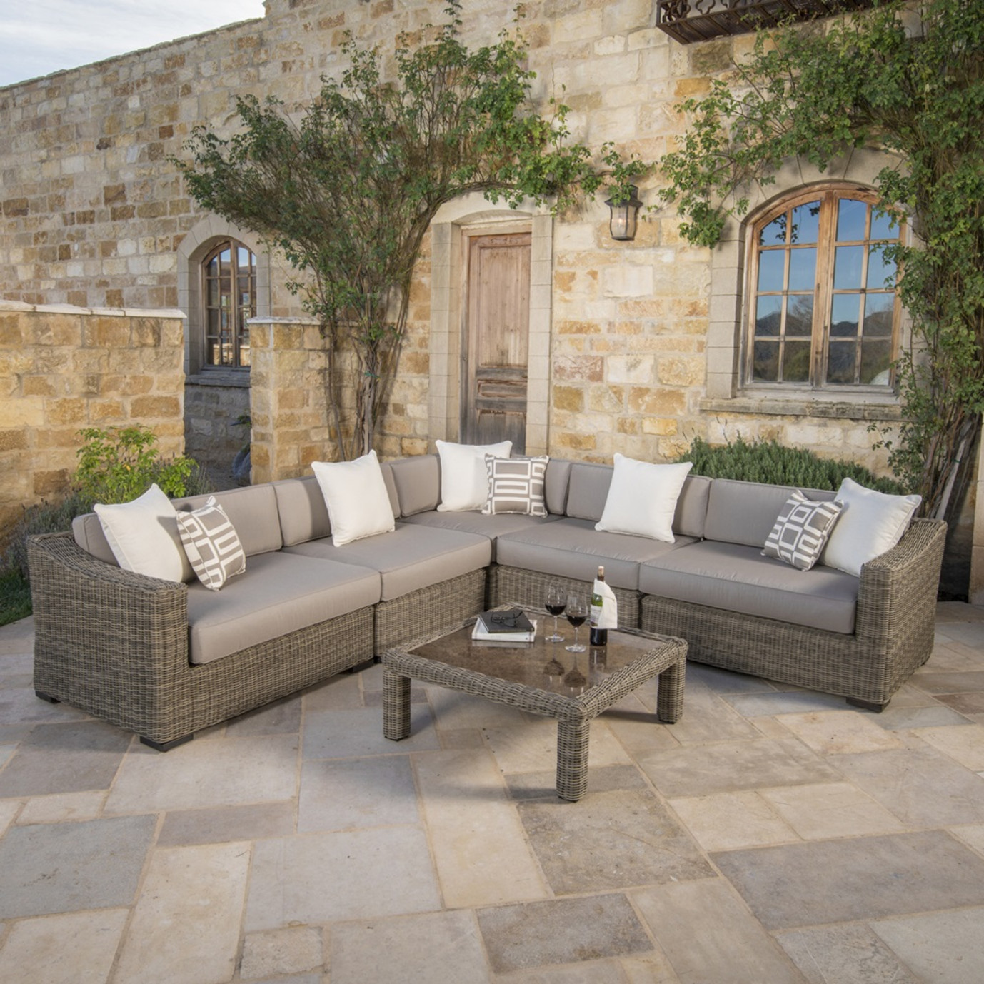 Resort™ Deluxe 6pc Seating Set - Weathered Grey