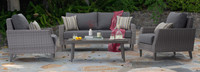 Portofino® Affinity 4pc Loveseat Group - Charcoal Gray