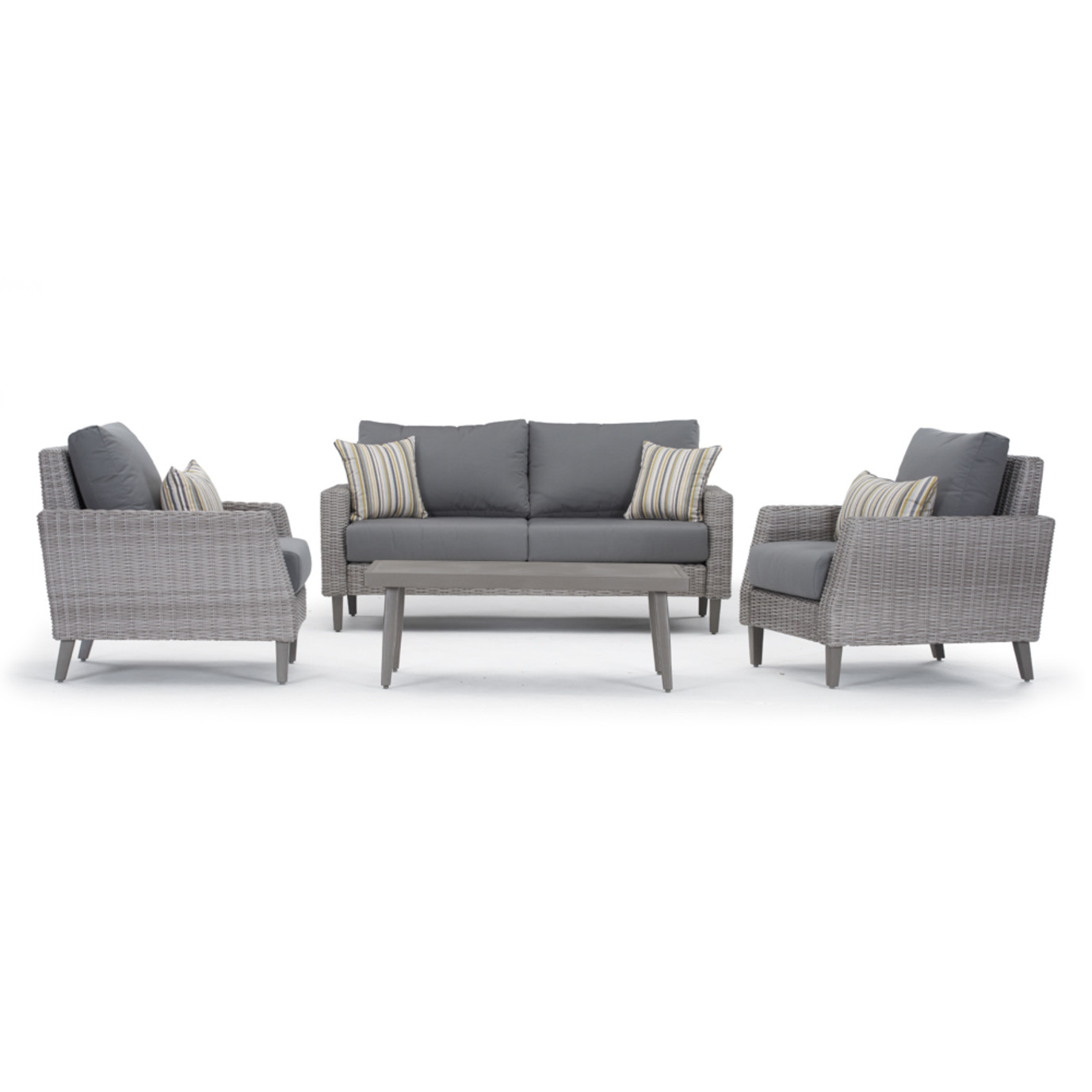 Portofino Affinity 4pc Loveseat Group - Charcoal Gray