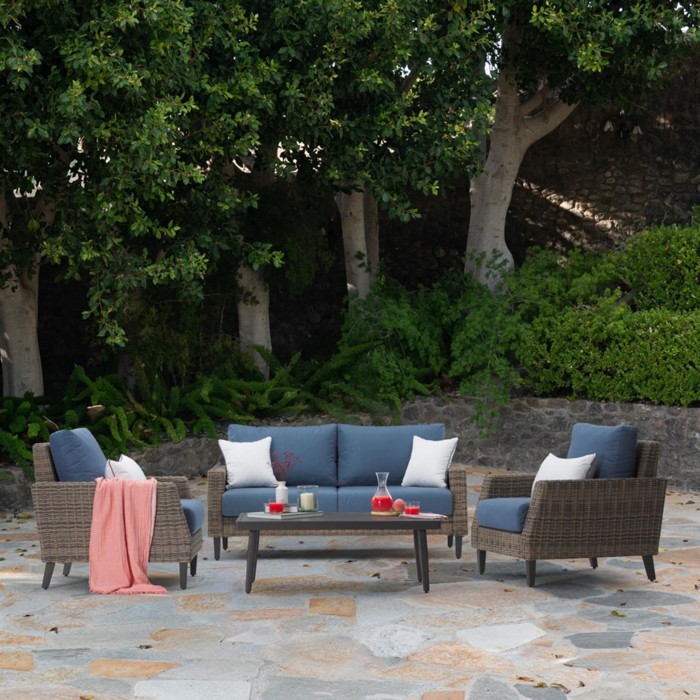 Portofino Affinity 4pc Loveseat Group - Newport Blue