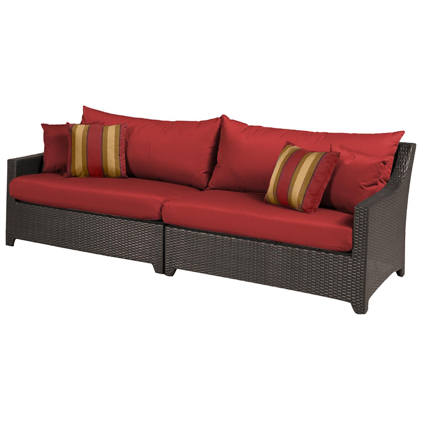 Deco Sofa - Cantina Red