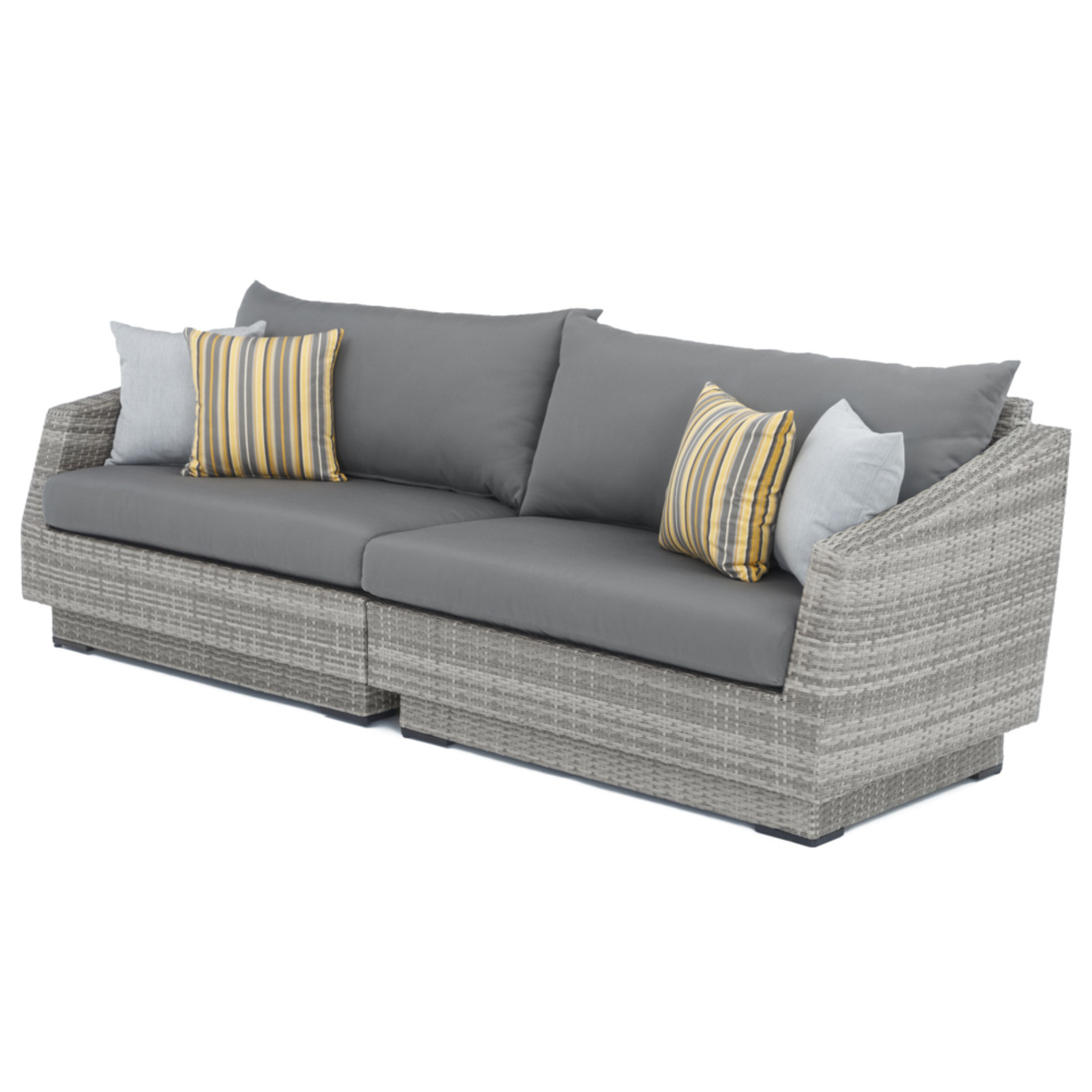 Cannes™ Sofa - Charcoal Gray