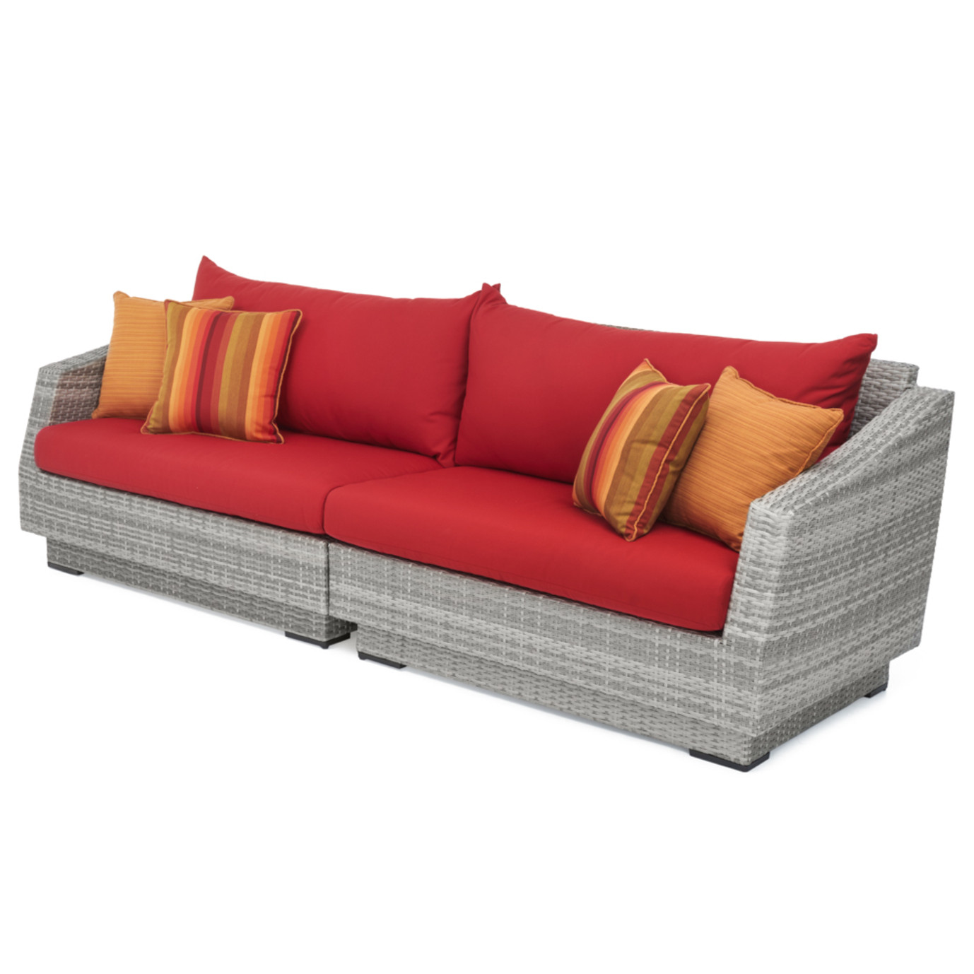 Cannes™ Sofa - Sunset Red