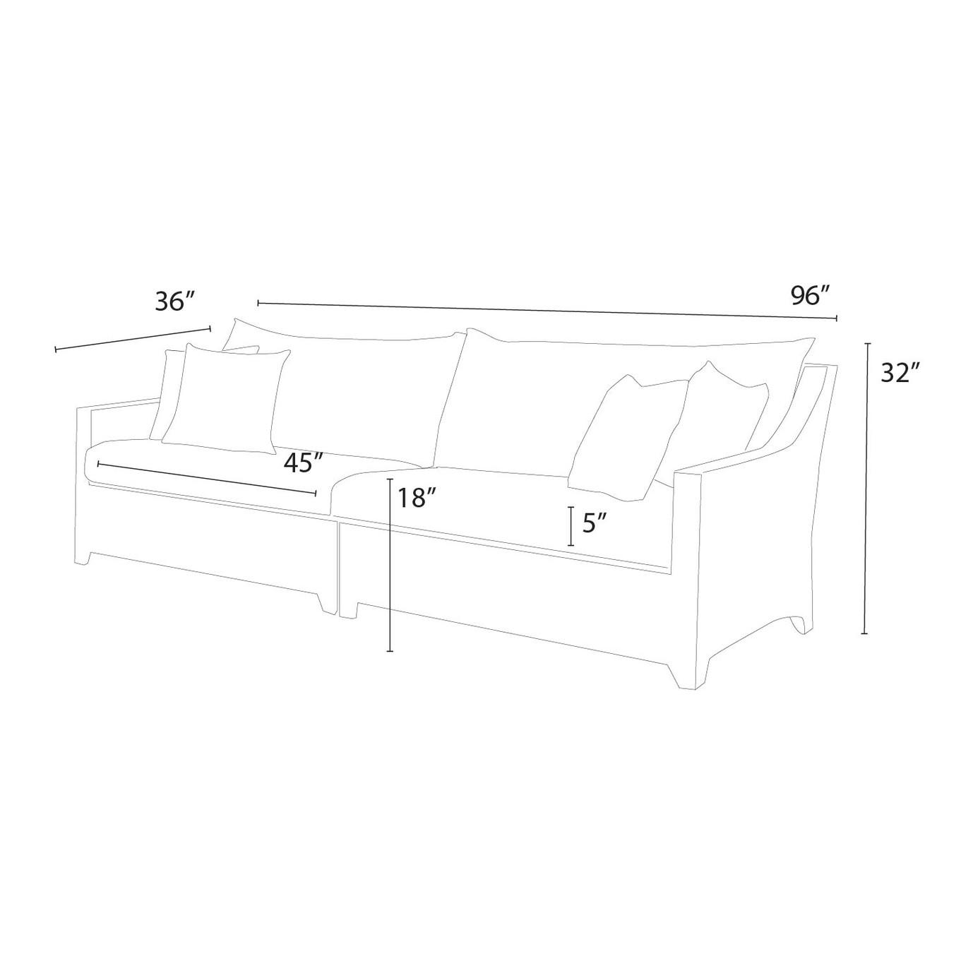 Deco™ Sofa - Slate Grey