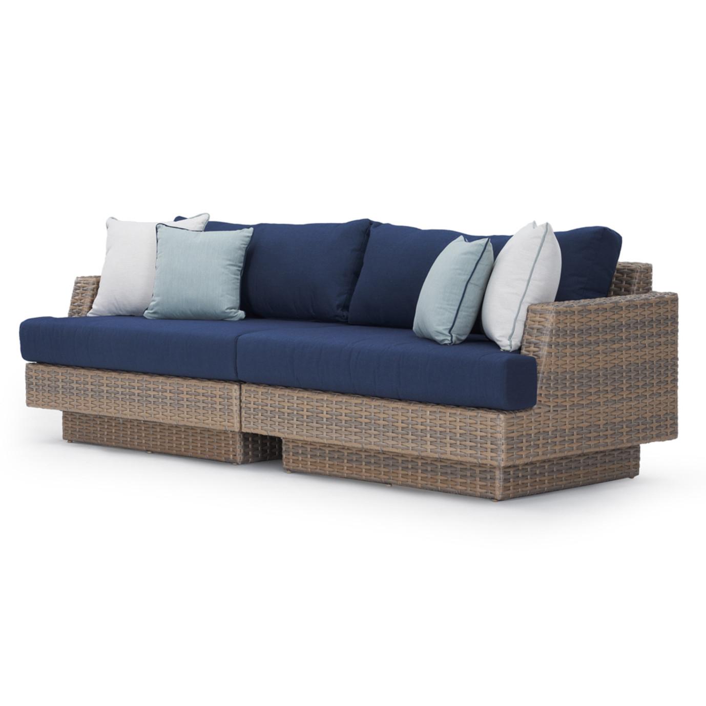 Portofino Repose 96in Sofa - Laguna Blue