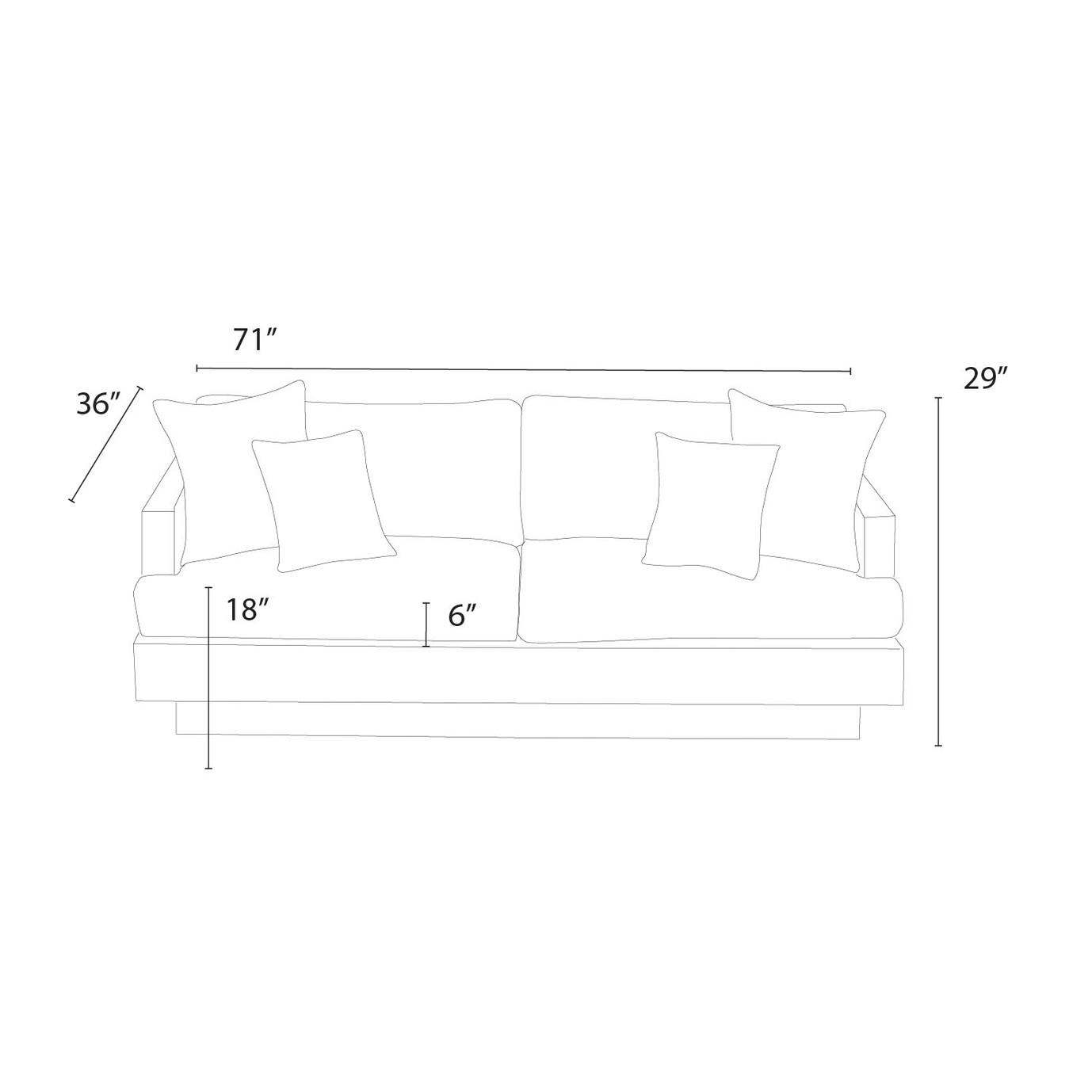 Portofino™ Comfort 71in Sofa - Heather Beige
