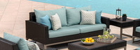 Milo™ Espresso 78in Sofa - Charcoal Gray