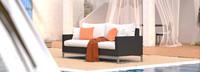 Milo™ Espresso 78in Sofa - Cast Coral