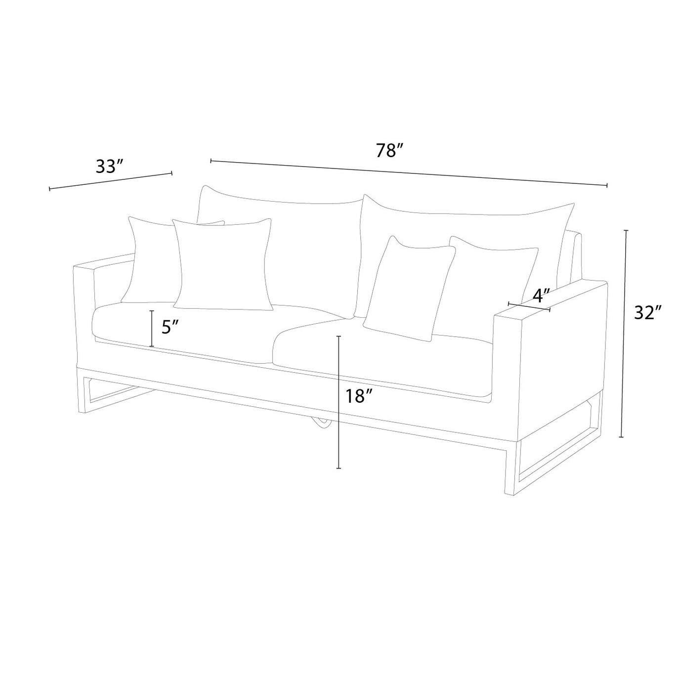 Milo™ Espresso 78in Sofa - Moroccan Cream