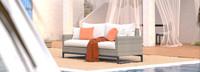 Milo™ Gray 78in Sofa - Cast Coral