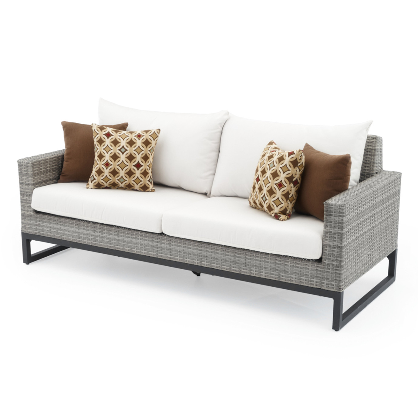 Milo™ Gray 78in Sofa - Moroccan Cream