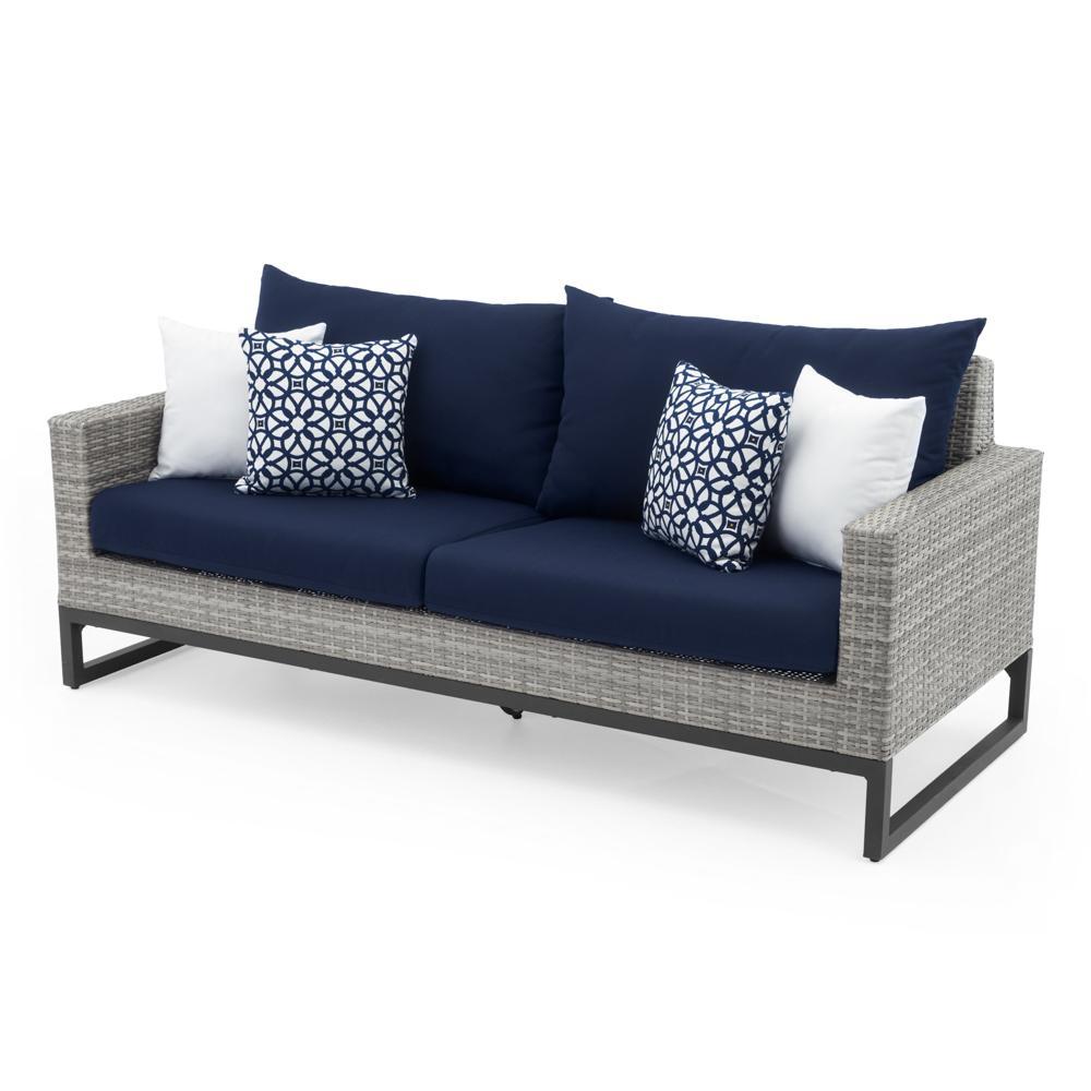 Milo™ Grey 78in Sofa - Navy Blue