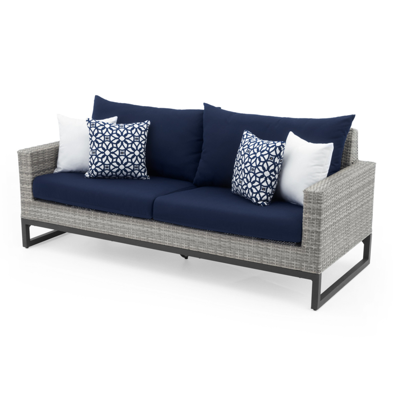 Milo™ Gray 78in Sofa - Navy Blue