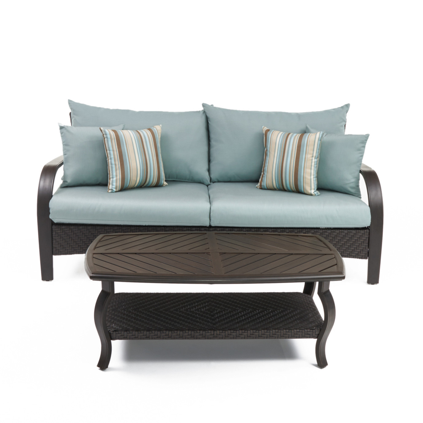 Barcelo™ Sofa & Coffee Table - Bliss Blue