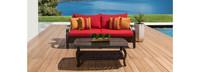 Barcelo™ Sofa & Coffee Table - Charcoal Grey