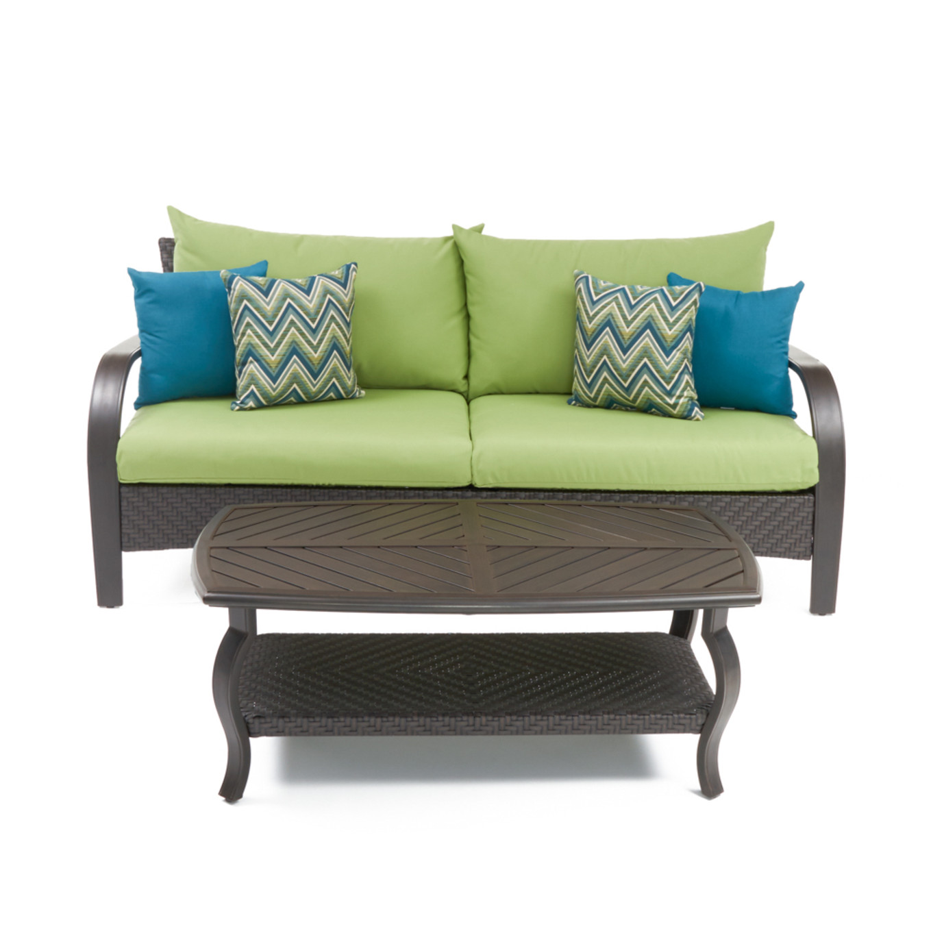 Barcelo™ Sofa & Coffee Table - Ginkgo Green