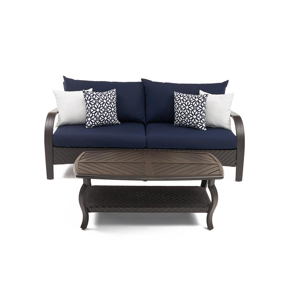 Barcelo Sofa and Coffee Table - Navy Blue