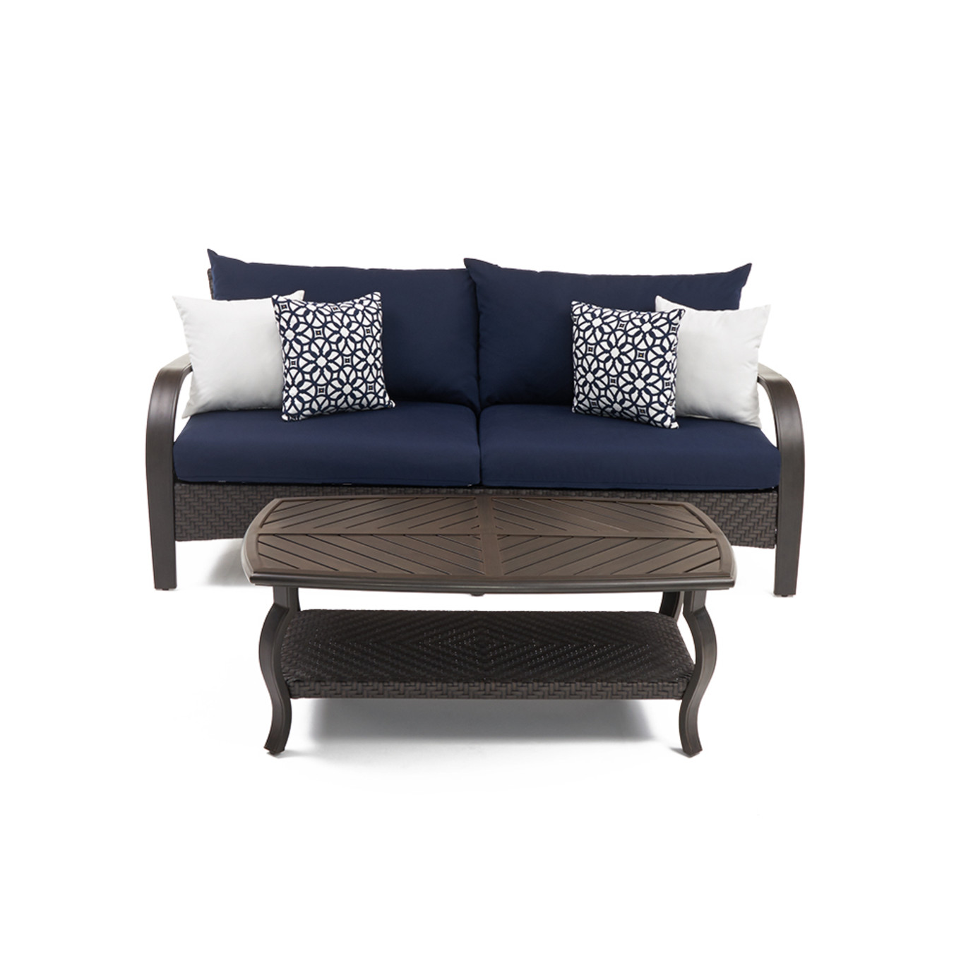 Barcelo Sofa Amp Coffee Table Navy Blue Rst Brands