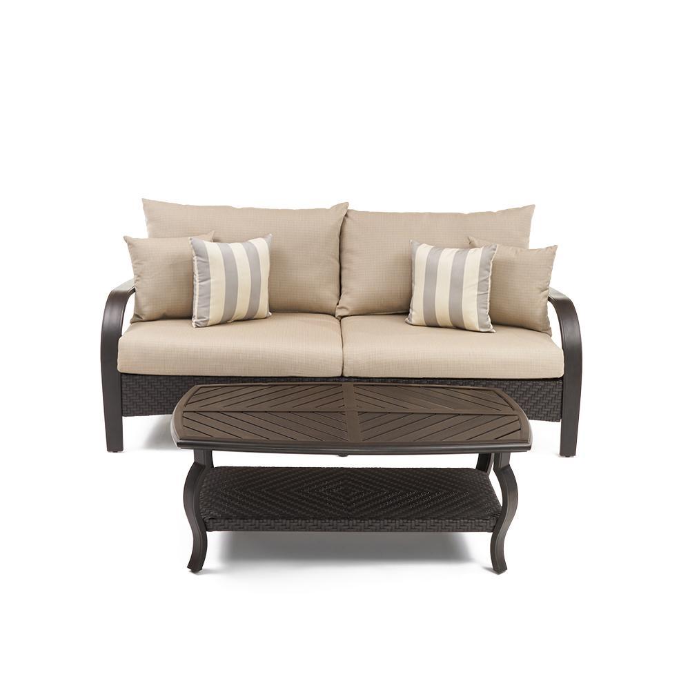 Barcelo Sofa and Coffee Table - Slate Grey
