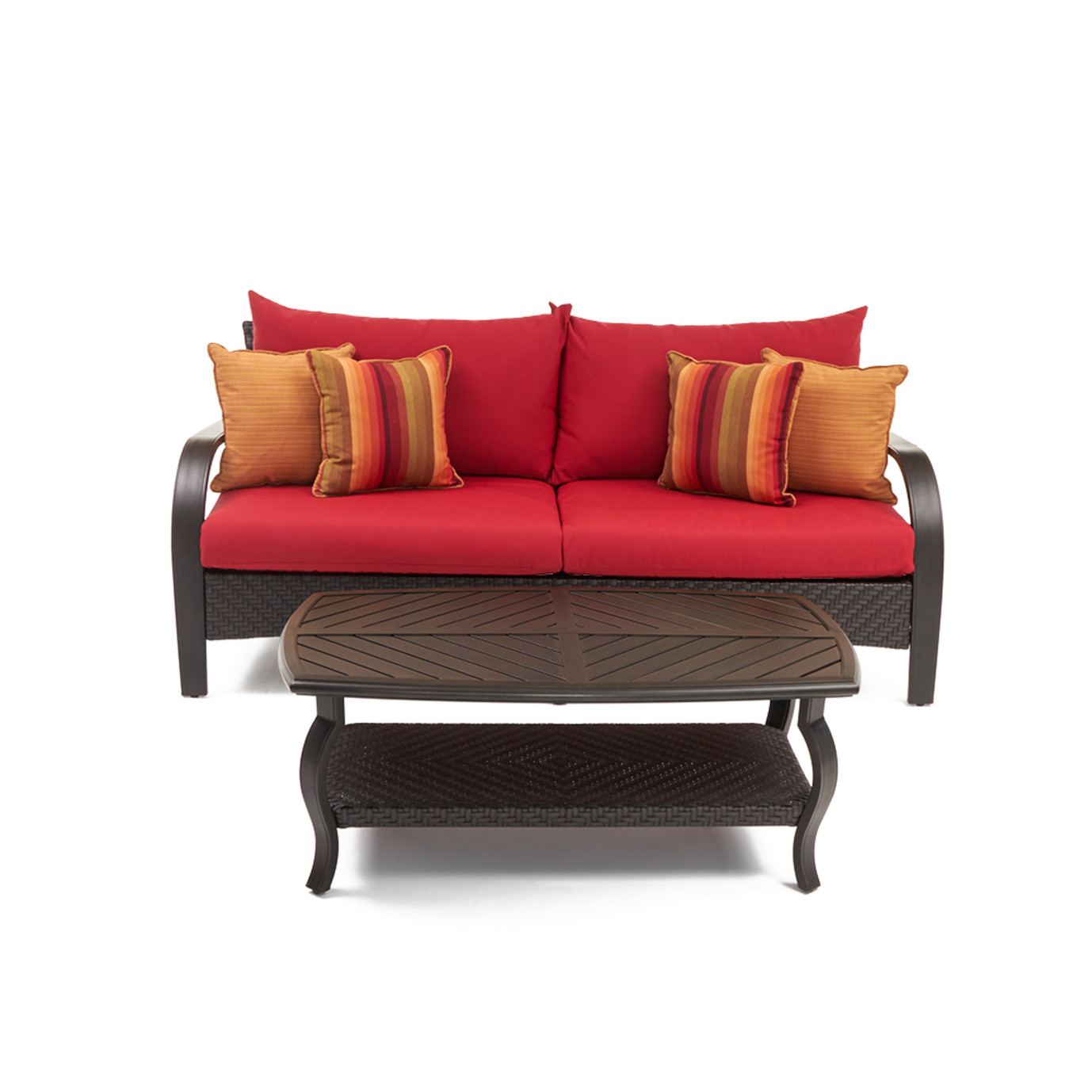 Barcelo™ Sofa & Coffee Table - Sunset Red