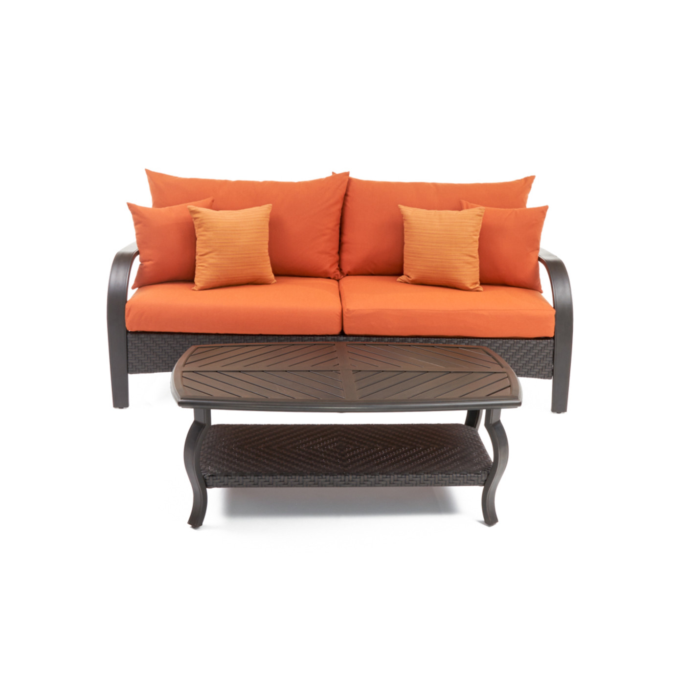 Barcelo™ Sofa & Coffee Table - Tikka Orange