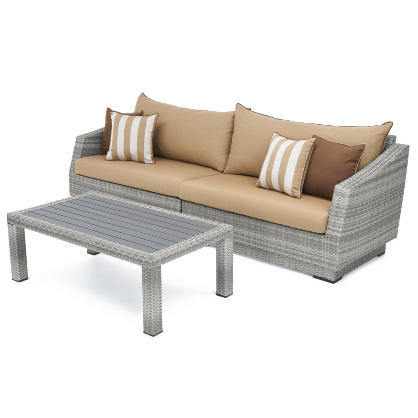 Cannes™ Sofa & Deluxe Coffee Table - Maxim Beige