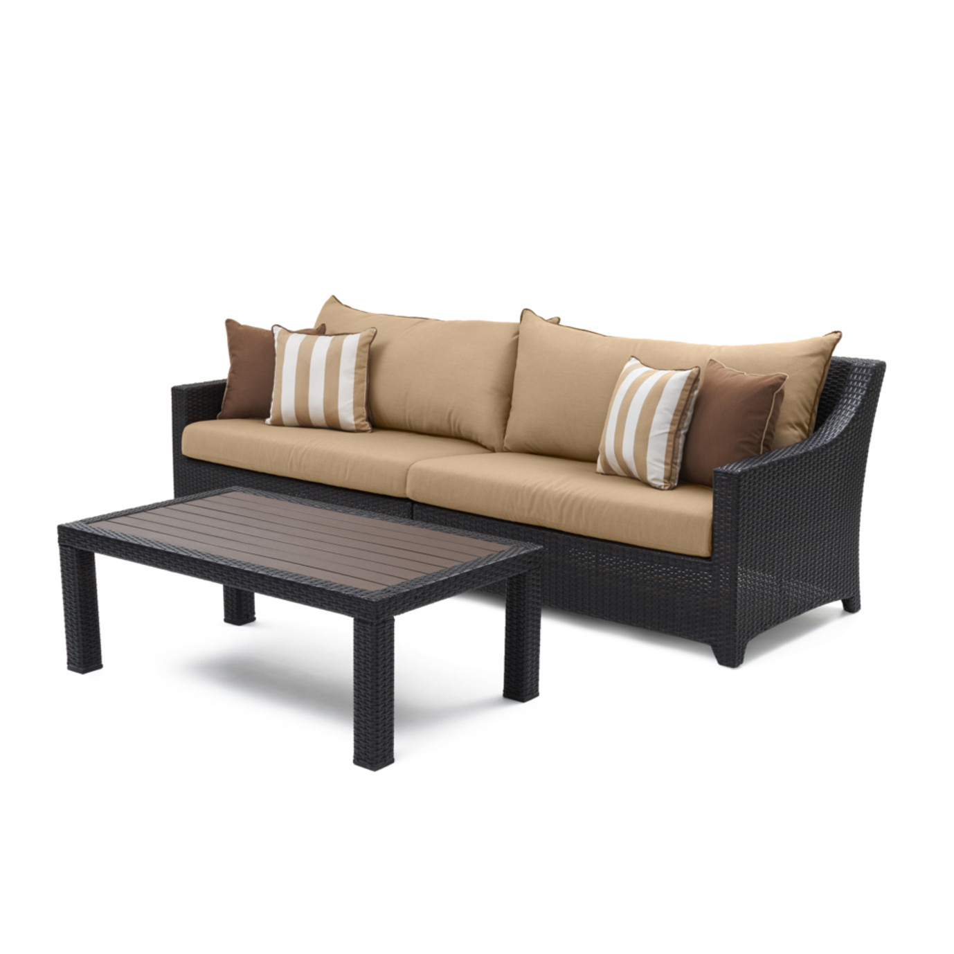 Deco™ Sofa & Deluxe Coffee Table - Maxim Beige