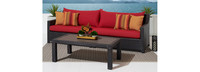 Deco™ Sofa & Deluxe Coffee Table - Sunset Red