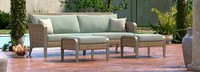 Grantina™ 88in Sofa and Ottomans - Charcoal Gray
