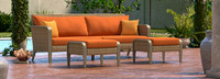 Grantina™ 88in Sofa and Ottomans - Navy Blue