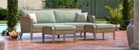 Grantina™ 88in Sofa and Ottomans - Spa Blue