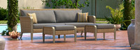 Grantina™ 88in Sofa and Ottomans - Tikka Orange