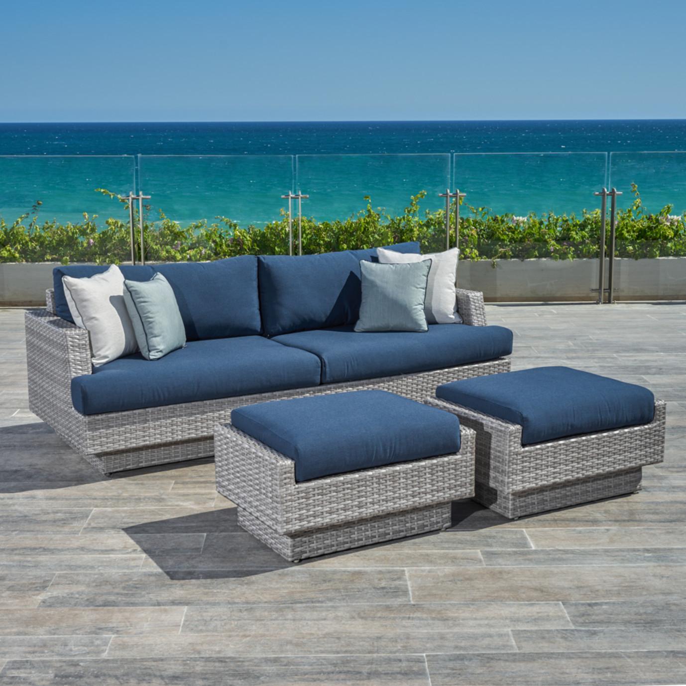 Portofino Comfort 88in Sofa Amp Ottomans Laguna Blue Rst