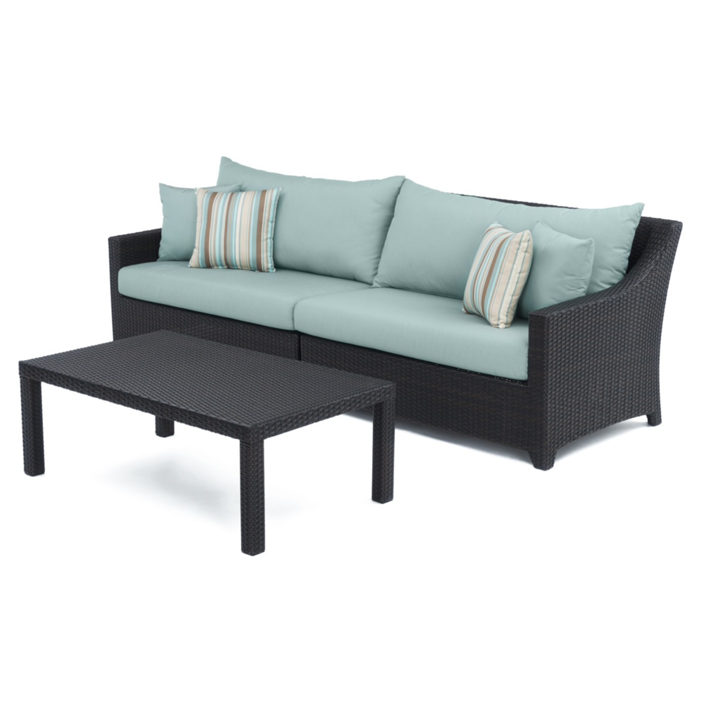 Deco™ Sofa with Coffee Table - Bliss Blue