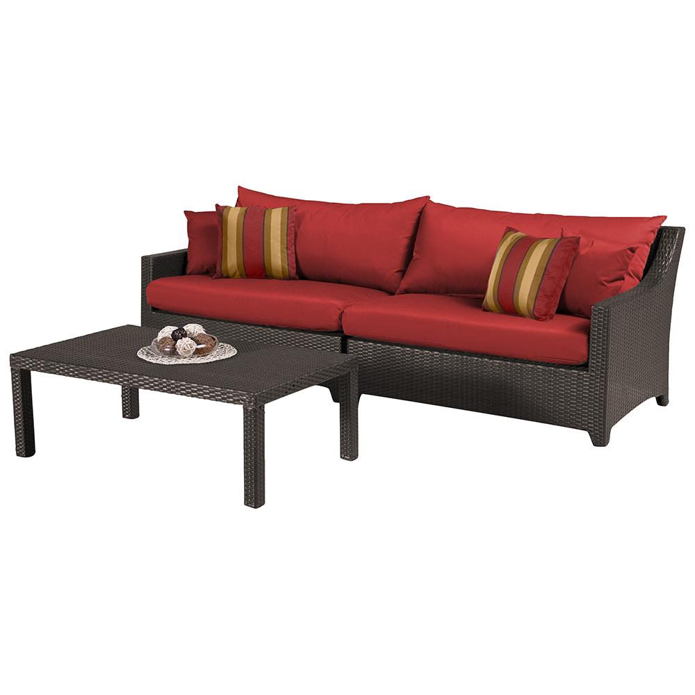 Deco Sofa with Coffee Table - Cantina Red
