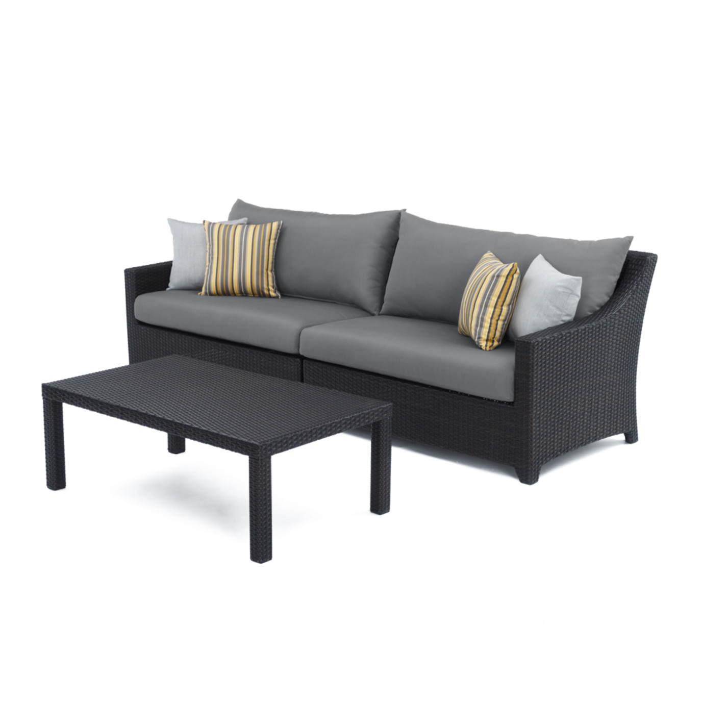 Deco™ Sofa with Coffee Table - Charcoal Grey