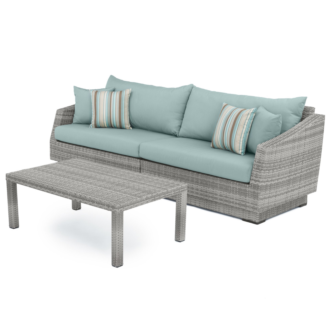 Cannes™ Sofa and Coffee Table - Bliss Blue