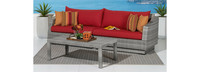 Cannes™ Sofa and Coffee Table - Charcoal Grey