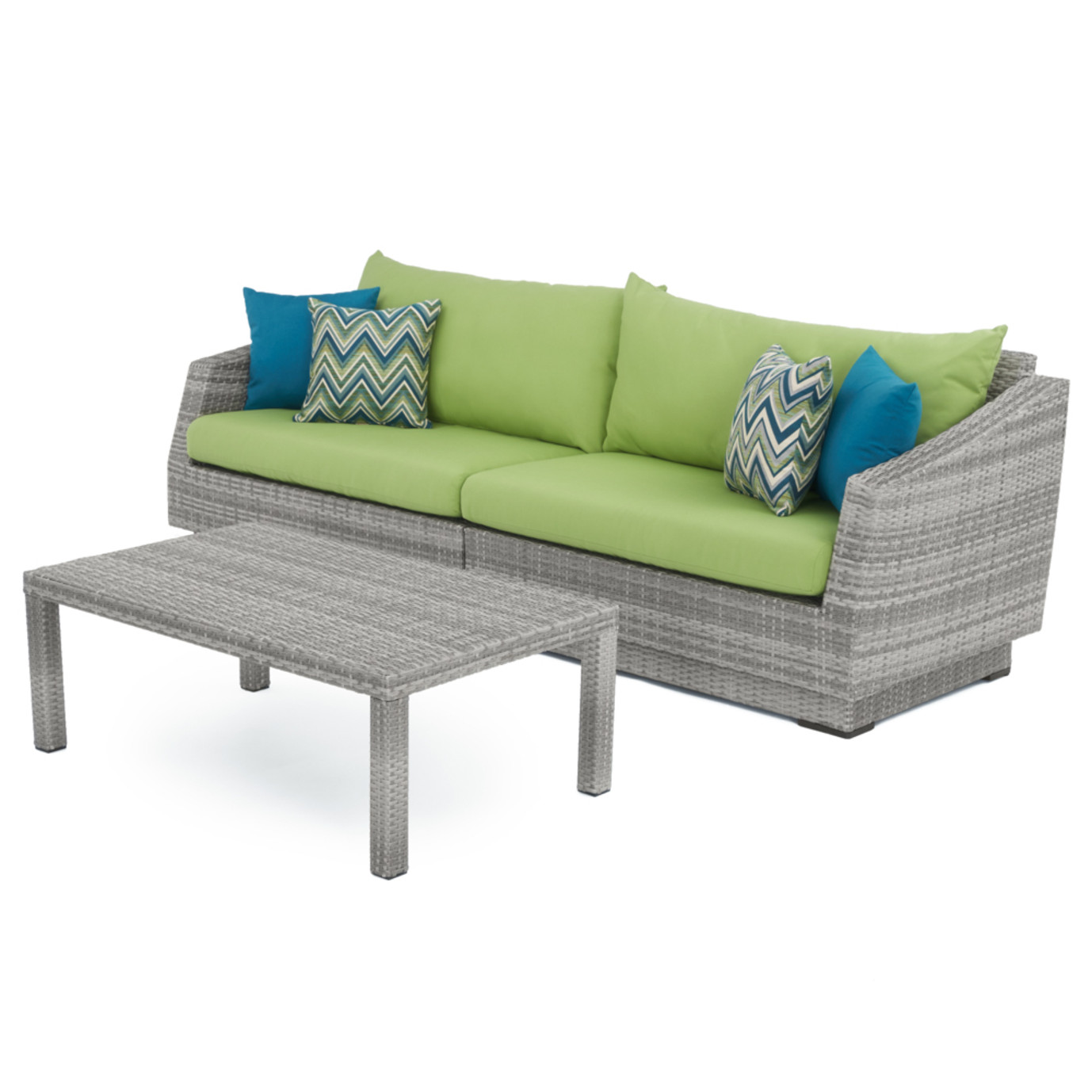 Cannes™ Sofa and Coffee Table - Ginkgo Green