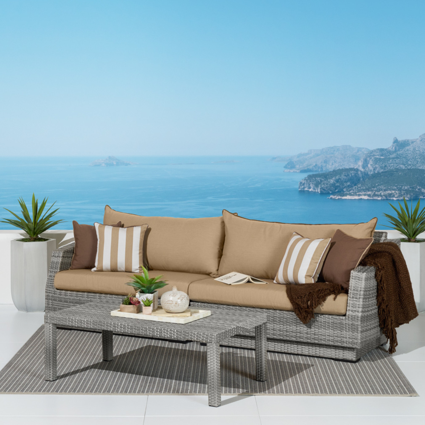 Cannes™ Sofa & Coffee Table - Maxim Beige
