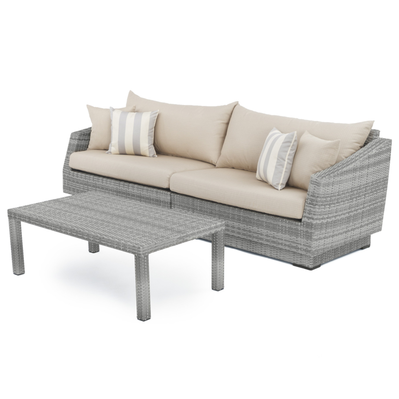 Cannes™ Sofa and Coffee Table - Slate Grey