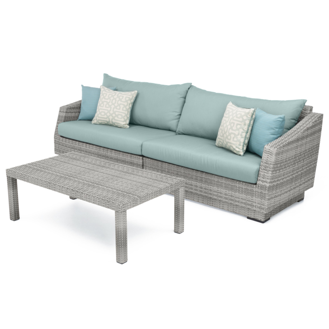 Cannes™ Sofa & Coffee Table - Spa Blue